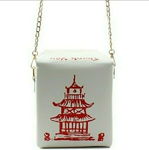 "Handbags - WHITE LEATHER ""CHINESE TAKE OUT BOX"" MESSENGER BAG"